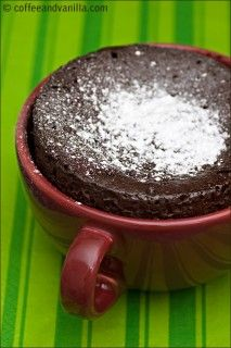 3 Minute Microwave Chocolate Cupcake