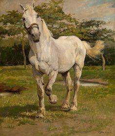 'El Caballo Blanco' de Jean Joseph Delvin (1853-1922)
