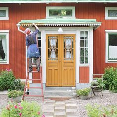 Sweden House, Gravel Landscaping, Red Houses, Home Reno, House Colors, Interior And Exterior, Home Goods, Sweet Home, Shed