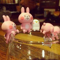 コップのフチでピスケとうさぎ全5種 by kanahei_