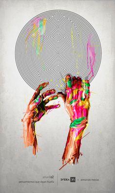 by Armando Mesías, via Behance Unusual Art, Dream Catcher, Weird, Artsy, My Arts, Ding Dong, Drawings, Imagination, Artworks