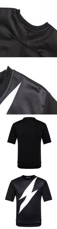 3D T-shirts Men Summer Hot Sell Printing Big lightning Black Tees Casual Short Sleeves Cool Top Crossfit Brand Clothing A013