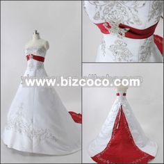 red an white wedding dress | Red And White Bridal Gowns ,For Sale,Prices,Manufacturers,Suppliers ...