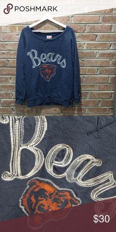 Chicago Bears sweatshirt // size XL Chicago Bears sweatshirt Relaxed fit Navy 100% cotton size XL Junk Food brand Junk Food Tops Sweatshirts & Hoodies