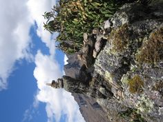 Hikers cairn, pass on the Inca Trail