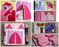 Quiet book Princess CUSTOMISED busy book Pony activity book