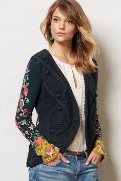 L.O.V.E. this Stitched Flora Cardigan #anthroABSOLUTEfav
