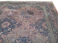 Blauw Perzisch Tapijt : Vintage perzisch tapijt awesome handgeknoopt blauw rood perzisch