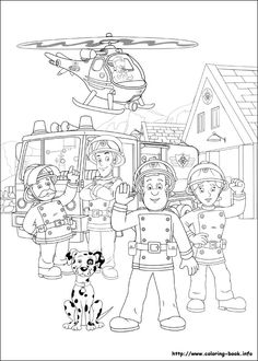HEAPS of Fireman Sam printable colouring in pages.  Not to self - print lots! #fireman #sam #episodes