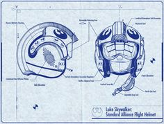 Standard Alliance Flight Helmet Blueprint
