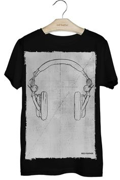Camiseta Masculina Headphone Cool Shirts, Tee Shirts, T Shirt World, Tee Design, Printed Tees, Sweater Shirt, Shirt Style, Shirt Designs, Mens Tops