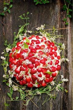strawberry + wildflower cake | frolic!