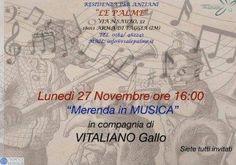 """Arma di Taggia. Lunedì 27 novembre, alle ore 16, presso la Residenza per anziani """"Le Palme"""", Via N. Sauro 32, Arma di Taggia (IM) i Solisti dell'Orchestr..."""