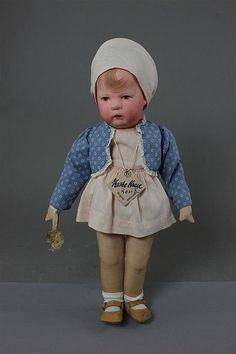"""14"""" KATHE KRUSE """"ROSE"""" X, MADE IN GERMANY U.S. ZON - by Apple Tree Auction Center"""