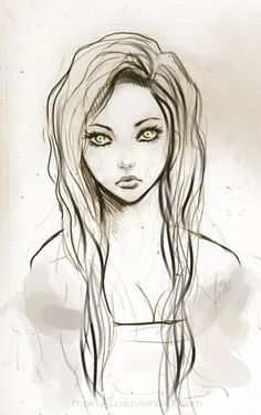 easy drawings of pretty girls - Google Search