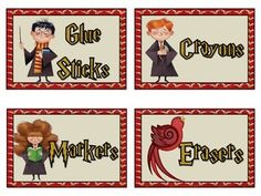 Harry Potter Classroom Labels