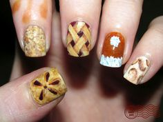 Pie nails for Pi Day!  wow!