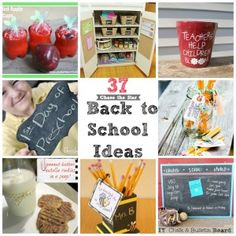 37 Back to School Ideas.  Cute!!  Lunch box jokes, after school snacks, teacher gifts