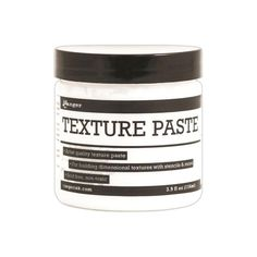 Ranger Texture Paste quality texture paste is ideal for layering and creating three-dimensional surfaces. Use with stencils for defined shapes or apply freely with a palette knife. This package contains one jar of texture paste. Non-toxic. Distress Ink Techniques, Graffiti, Texture Paste, Ranger Ink, Simon Says Stamp, Tim Holtz, Cookie Dough, Scrapbooks, Layering