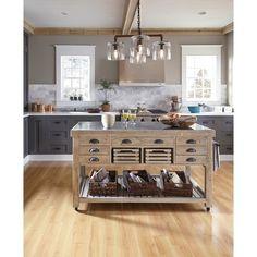 Deni Wood And Stone 60Inch Kitchen Islandkosas Home Kitchen Fascinating 60 Inch Kitchen Island Design Ideas