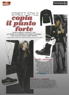 Donna Moderna - editorial 2014 #nerogiardini #heavydutyboots #boots
