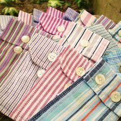 des pochettes avec des manches de chemises : j'adore les pochettes, j'adore la récup !