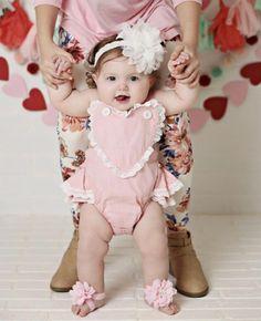 a065ddc39e84 Little Love Retro Ruffle Romper - Pink