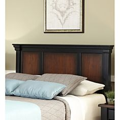 Home Styles The Aspen Collection Rustic Cherry & Black King/California King Headboard