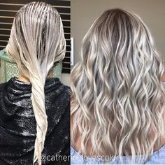 Trendy Hair Highlights : Balayage application & finished +Tips; Trendy hairstyles and colors Women hair colors; Brunette Bob, Balayage Brunette, Ombre Hair Color, Hair Color Balayage, Hair Colors, Blonde Fall Hair Color, Cool Toned Blonde Hair, Bayalage, Real Hair Wigs