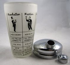 Vintage Frosted Glass Cocktail Shaker with by LuckySevenVintage, $40.00