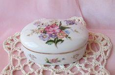 Shabby Chic Flower Porcelain Jewelry/Trinket by happybdaytome, $29.00