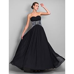 TS+Couture®+Formal+Evening+/+Military+Ball+Dress+-+Open+Back+Plus+Size+/+Petite+Sheath+/+Column+Sweetheart+Floor-length+Chiffon+with+Draping+/+Sequins+–+CAD+$+152.89