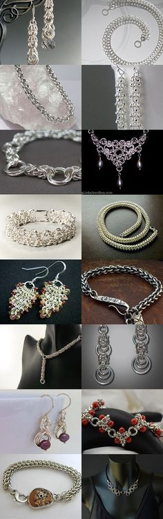 Sensational Silver Chainmaille by Heidi Vickery-Uechi on Etsy--Pinned with TreasuryPin.com