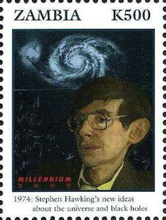 Postage stamp on Stephen Hawking by Zambia. Popular Hobbies, Nobel Prize Winners, Stephen Hawking, Stamp Collecting, Postage Stamps, Science Nature, Astronomy, Physics, Personality