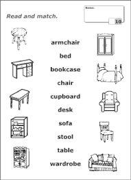 Bilderesultat for house furniture worksheets