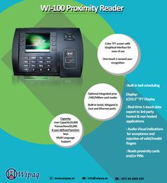 WI 100 Proximity Reader at a low price in Dubai. Protect your premises sing the WI-100