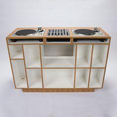 Vinyl, Turntable, Furniture, Design, Record Shelf, Vinyl Record Storage,  Turntable