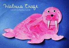 Printable Walrus Craft from http://learncreatelove.com