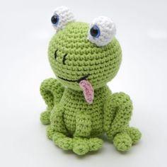 Crochet Frog, Love Crochet, Diy Crochet, Crochet Dolls, Crochet Baby, Baby Knitting Patterns, Amigurumi Patterns, Crochet Patterns, Diy Crafts For Gifts