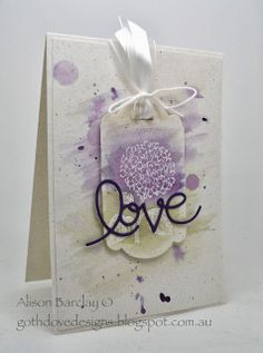 Gothdove Designs - Alison Barclay #stampinup #stampinupaustralia #BestOfFlowers #thinlits #valentine #watercolour