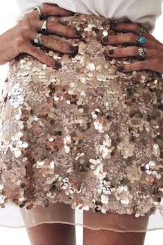 Sofie Sequined Skirt
