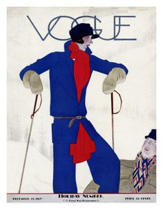 """Look, I've said I'm sorry for carving you up. Can you please get off me now Miss?""  Vogue Cover - December 1927 Premium Giclee Print"