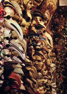 Venetian masks. I want one so bad, but I'll only buy it if I'm in Venice. When I was in Rome, I studied the different types and the meaning behind each one. So fascinating.