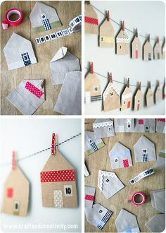 How amazing and simple is this? House shaped favor bags - by Craft & Creativity