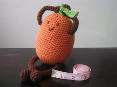 CROCHET PATTERN  Happy Kumquat Plush Amigurumi by LeenGreenBean, $3.50