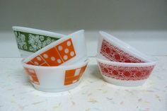 Vintage Set Of 5 Fire King Bowls Cereal Bowls by RavishingRetro, $20.00