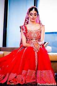Indian bridal makeup; red<3