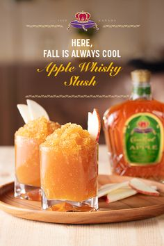 A proper party has a signature drink. Sometimes we mix them, sometimes we shake them - this Fall, we're freezing them! You and your guests might get a brain freeze, but it's worth it. RECIPE: 1/2 gallon apple cider, 3 cups Crown Royal Regal Apple Flavored Whisky. Combine cider and Crown Royal in a freezer safe container. Freeze overnight. Garnish with apple slices.