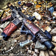 knives, guns, and tactical gear : Photo Guns And Ammo, Weapons Guns, Glock Guns, Rifles, Custom Guns, Custom Ar, Custom Paint, Ar Pistol, Ar Build