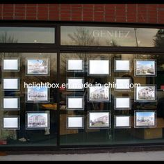 Real Estate Shop Window Sign Acrylic Ceiling Light Box LED Window Display Real Estate Sign Frame Real Estate Office, Real Estate Business, Office Break Room, Lead Windows, Real Estate Signs, Organic Glass, Led Board, Best Banner, Window Signs